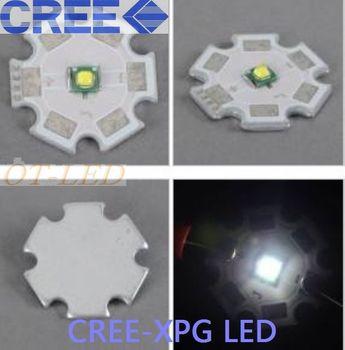 Freeshipping! 10PCS CREE XPG white  LED Cree xpg led chip  White 1-3W-5W LED Light Emitter mounted on 20mm Star PCB