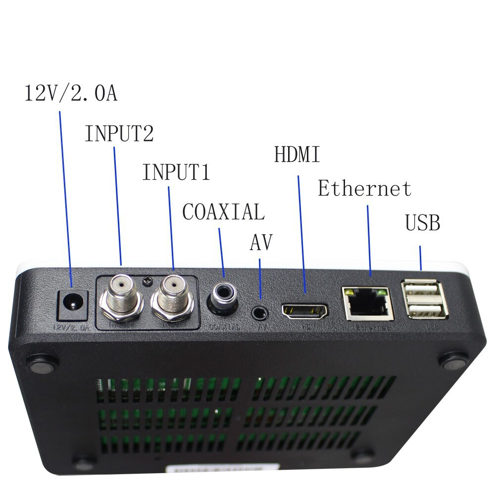 Free Shipping  Full HD FTA Tocomfree S929 Twin Tuner Receptor Support