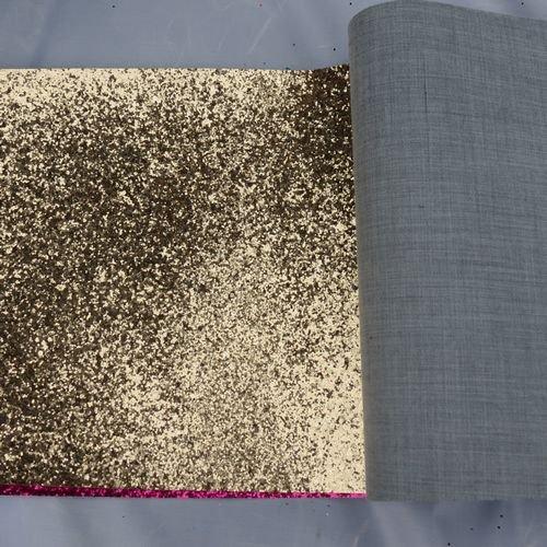 fabric glitter leather wallaper , golden cheap rolls traditional wallpaper(China (Mainland))