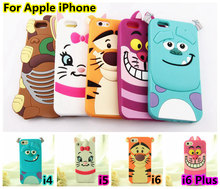 For iphone 5 5s 6 6s 6 Plus 6Plus 4 4s Cute 3D Cartoon Monsters University Inc. Sulley Marie Alice slinky dog Cover Soft Cases(China (Mainland))