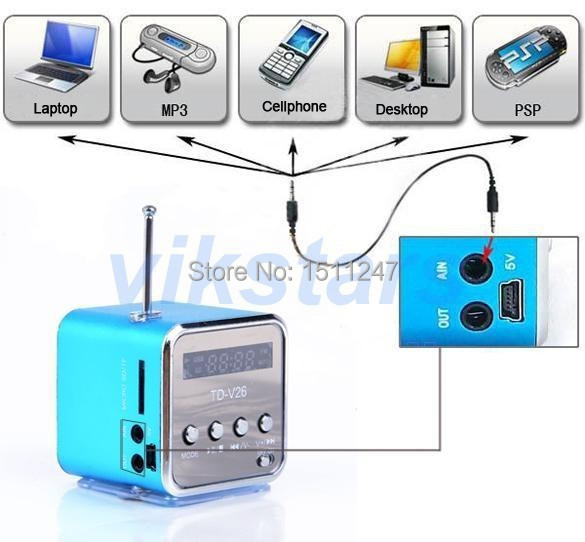 Only love portable micro SD TF USB speakers internet radio mobile phone vibration computer music player