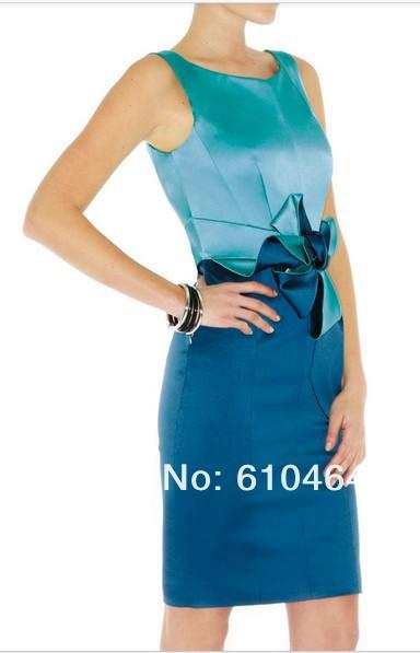 2013 new hotel etiquette dress Slim thin package hip Christmas dinner short dress evening wear halter(China (Mainland))