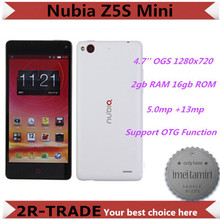 ZTE Nubia Z5S Mini Snapdragon 600 1.7GHz Quad Core Mobile Phone 5mp 13mp Camera 4.7'' OGS 1280x720 2GB RAM 16GB ROM GPS OTG(China (Mainland))