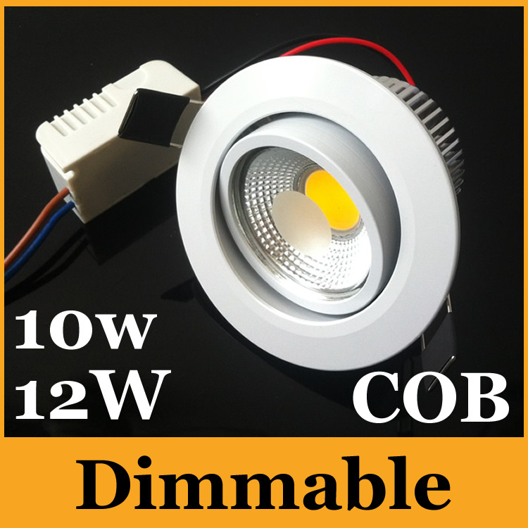 Dimmable 10W 12W Led Recessed Lights High Power COB Downlights Warm/Cool White 120 Angle AC 85-277V + Drivers CE - Eternal Online LED Store store