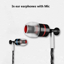 IV8 3.5mm In Ear Headphones Earphones With Microphone Deep Bass stereo earbuds handsfree Headset For Mobile Phone xiaomi MP3