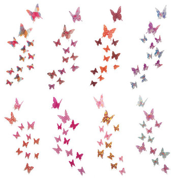 12pcs 3D Butterfly Wall Decor Art Waterproof Butterflies Wall Stickers Home Decor Wall Sticker for Kids Rooms Living Room
