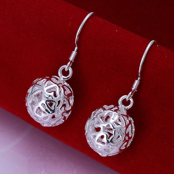 Гаджет  Free shipping, Fashion earrings, Fashion jewelry, 925 silver ball drop earrings, high quality factory price, LE100 None Ювелирные изделия и часы