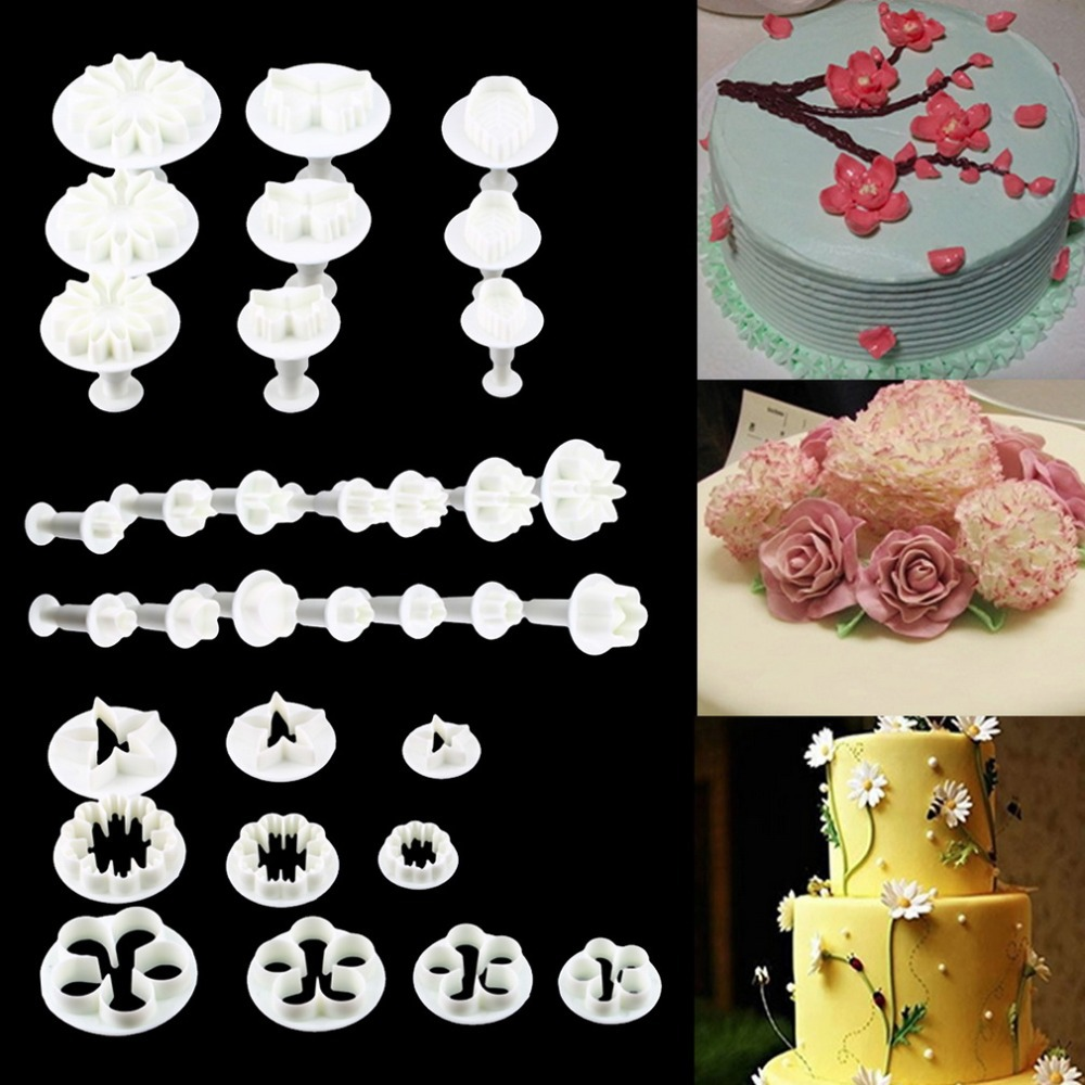Cake Decorating Fondant Icing : 33 Pcs Sugar Craft Cake Decorating Fondant Icing Cutters ...
