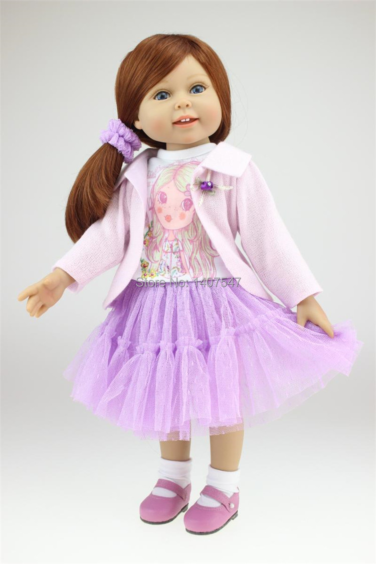 Full Vinyl 18 inch American Girl Doll sale Baby Alive Toys Handmade Princess dolls girls New Style Gift