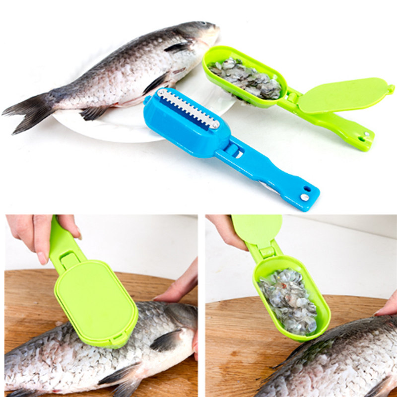universal Practical Fish Scale Scraper Clam Opener for Cleaning Scraping Fishes Kitchen Gadget Cooking Tool Good Helper Supplies(China (Mainland))