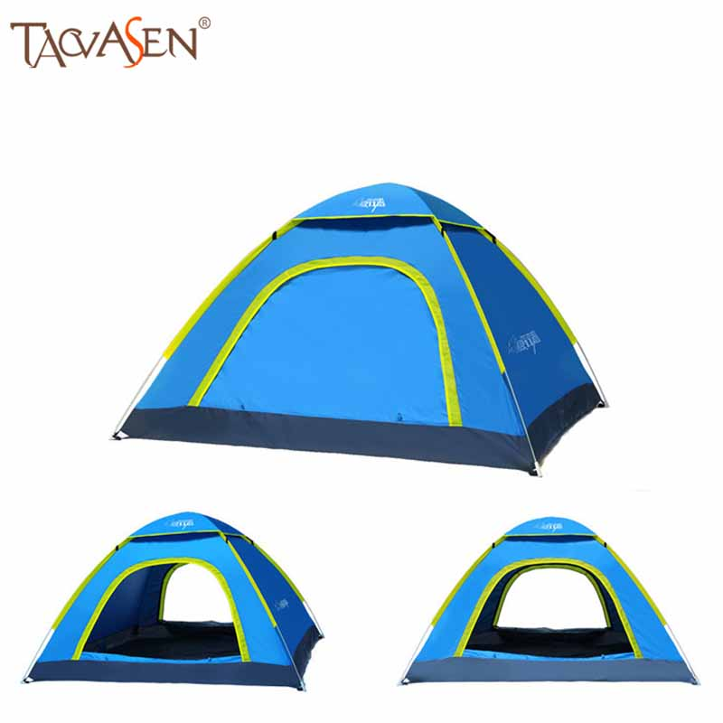 Sun Protection Outdoor Hiking Tents 3~4 Person Camping Tent Quick Automatic Opening Tent Ultralight Rainproof Camping Tent(China (Mainland))