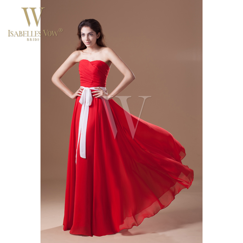 summer style bridesmaid dresses red sweetheart floor With petite dresses for wedding party
