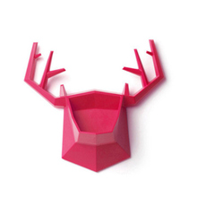 Small Elk Wall Storage Rack Deer Shaped Container Wall Holder Key Hangers Organizer Earring Necklace Shelf