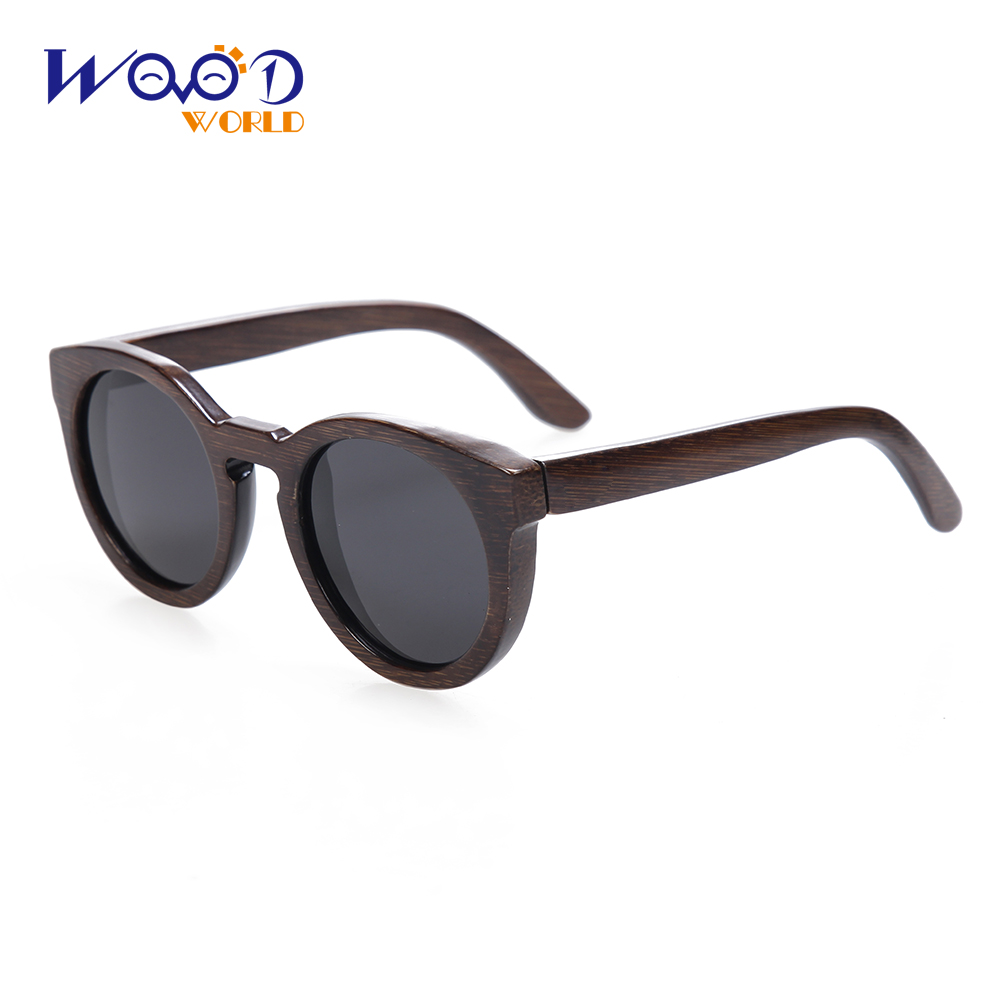 Sun glasses for men and women polarized new fashion wooden sunglasses high quality bamboo frame in stock(China (Mainland))