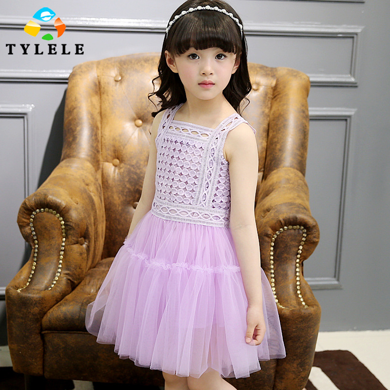 5-14T Summer Infant Party Dress For Girls 2016 Princess Dresses White Kids Clothes Sleeveless Girl Dress Teenage Baby Girl Wear(China (Mainland))