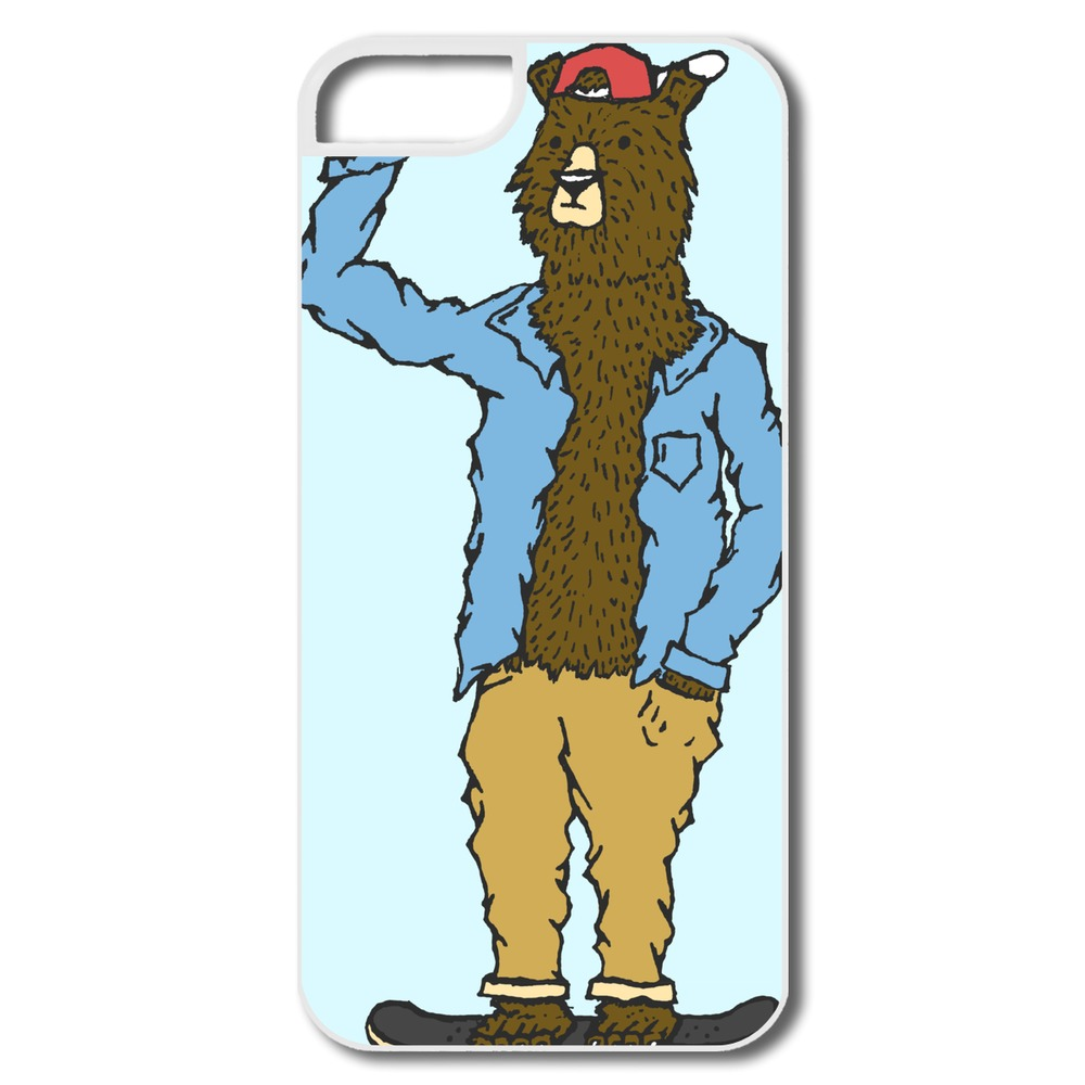 Top Rated Plastic Cover Skate Bear Custom For Iphone 5 Cover Accept Your Own Logo(China (Mainland))