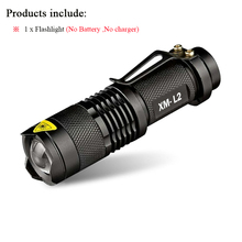 Mini cree xm-l2 xml t6 q5 flashlight powerful Zoomable waterproof led torch rechargeable lanterna camping flash light  lumens(China (Mainland))
