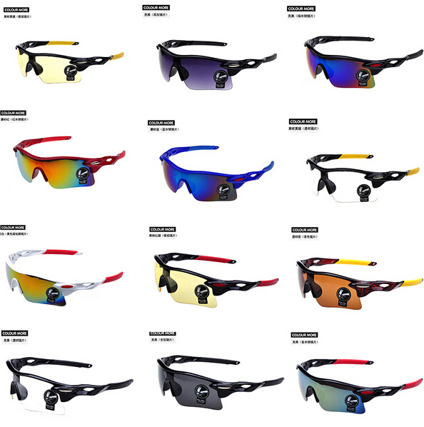 Sunglasses Men Women Colorful Sport Sun glasses Oak Riding Glasses Outdoor Sport Parkour Trend motor Goggles cycling Eyewear(China (Mainland))