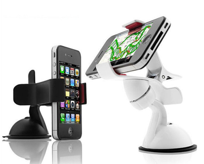 Universal 360 degree Car Windshield Mount Mobile Phone Holder Bracket Stand For iPhone5 6 Plus Galaxy S4 S5 S6 Note 2 3 GPS *(China (Mainland))