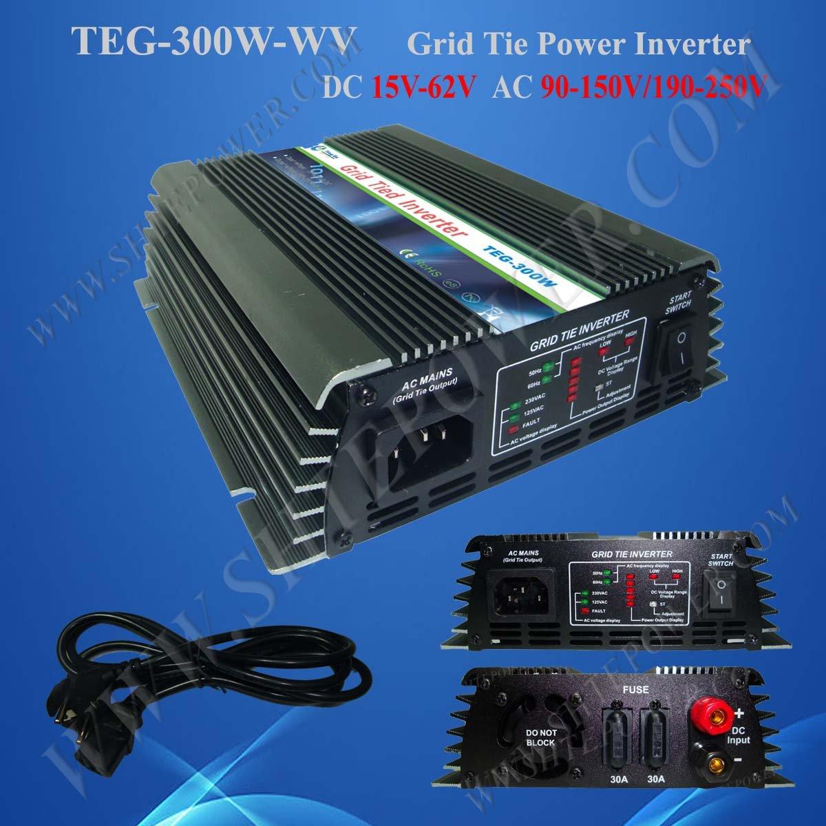 On Grid Solar Inverter 300w with DC 22v-60v input to AC 230v Output(China (Mainland))