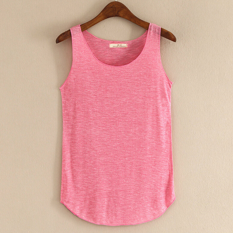 Spring Summer New Tank Tops Women Sleeveless Round Neck Loose Blouses Ladies Shirts Vest Singlets(China (Mainland))