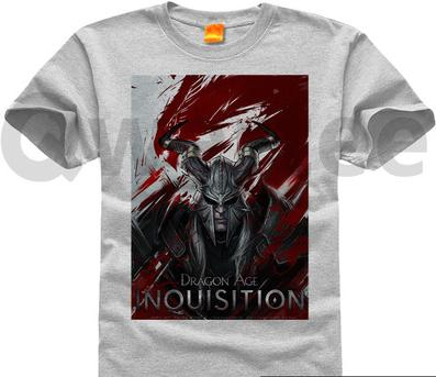 Dragon age 3 inquisition Dragon age Pure cotton Round collar Mens short sleeve T-shirt 004Одежда и ак�е��уары<br><br><br>Aliexpress