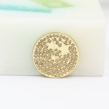 2016 women jewelry -stars gold coin pendant fit 25mm coin holder&coin frame 0357#(China (Mainland))