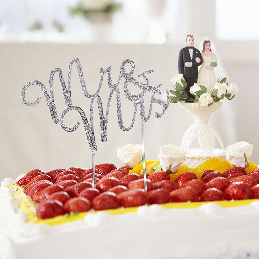 Best Wholesale Romantic Wedding Cake Topper Bling Bling Rhinestone