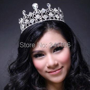 2014 New Luxurious Crystal Rhinestone Bridal Tiara Crown Wedding Hair Accessories Hair jewelry Wedding Accessoies