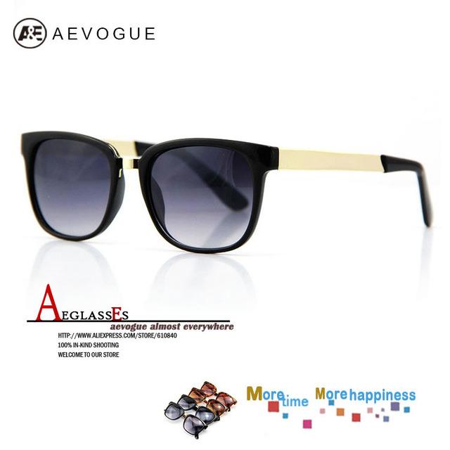Aevogue новое ретро супер черный бренд солнцезащитные очки мужчины золотые очки ноги очки óculos / gafas-де-сол CE DT0192