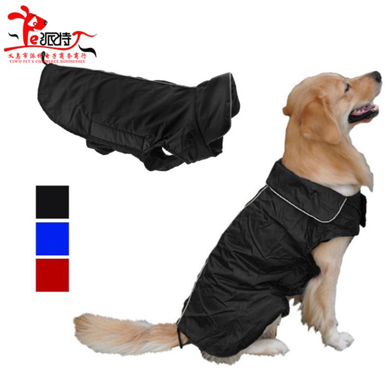 Hot Sale XS-XXXL Dog Jacket Large Dog Coat Waterproof Pet Clothes with Stand-Up Collar Coveralls for Shih Tzu Yorkie Retrievers(China (Mainland))