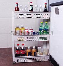 Трехуровневая большой полка ванной хранения пластиковые туалет полка на кухне многослойную кадров мощность стойки