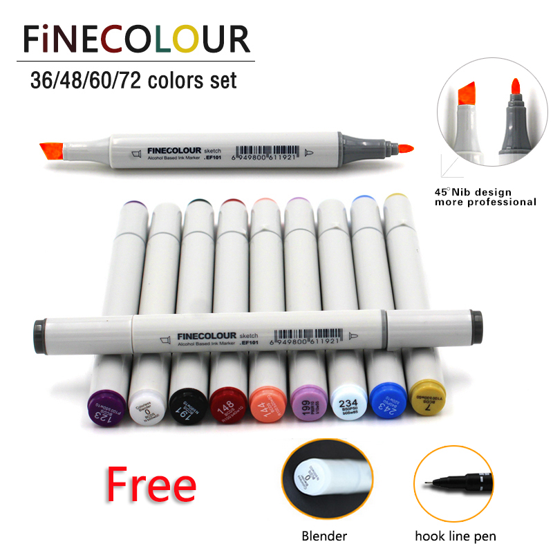36/48/60/72 Colors Alcohol Based Ink Double Headed Art Sketch Marker Brush Pen Set Painting Sketch Drawing Art Copic Marker Pens