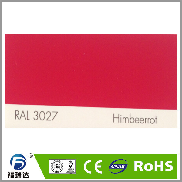 thermosetting RAL3027 raspberry red polyester spray electrostatic powder coating(China (Mainland))