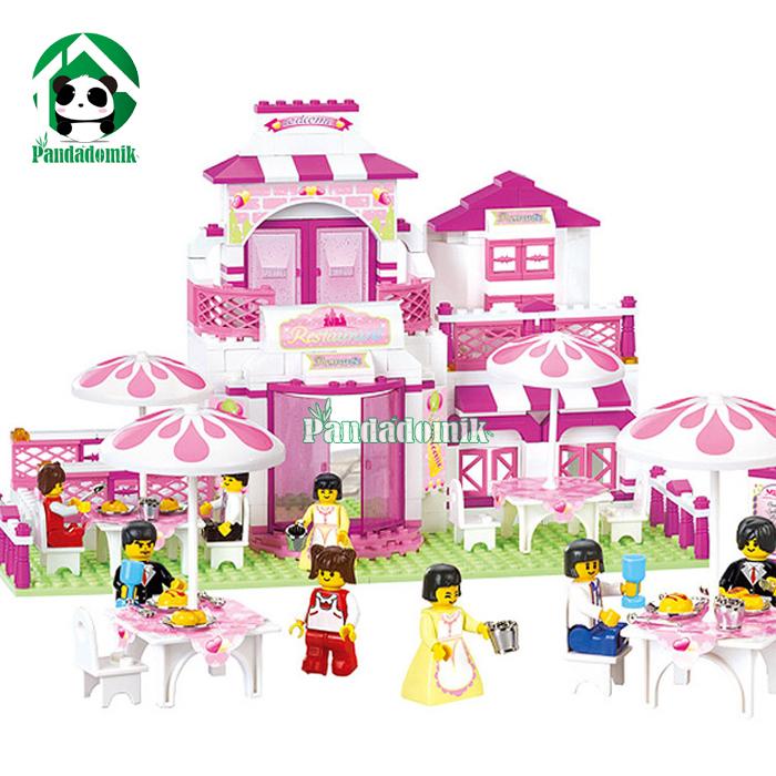 Building Toy Blocks Happy Restaurant Friends 308 Figures Girls Educational Toys Bricks Compatible lego - Pandadomik store
