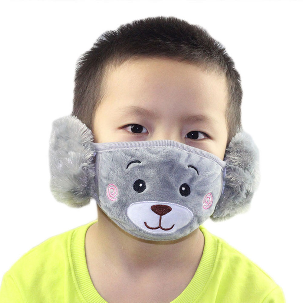 New Fashion 2017 Cartoon Dust Winter Child Masks Ear Windproof Warm Face Mouth Free Shipping