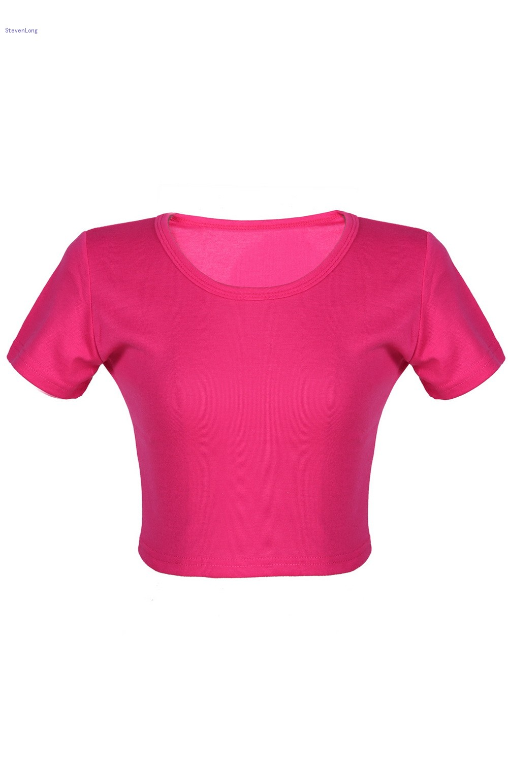 Sexy lady women tight crop top skinny short sleeve o neck for Tight t shirt crop top