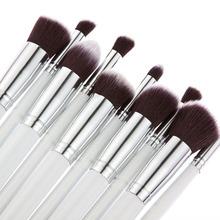 15 Colors Contour Cream Makeup Concealer Palette 10pcs Brush White Silver CS 8