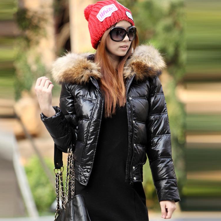 Пуховик капюшон, женщины пуховик марка короткая искусственный мех воротник женщины тёплый куртка парка Mujer приталенный Fit