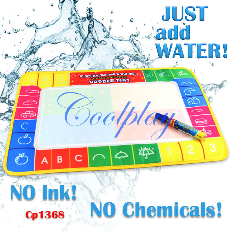 Free EMS shipping 100pcs/Lots CP1368 45X29cm Water Doodle Mat with 1 Magic Pen Drawing Toys Mat /Aquadoodle Drawing Mat/(China (Mainland))