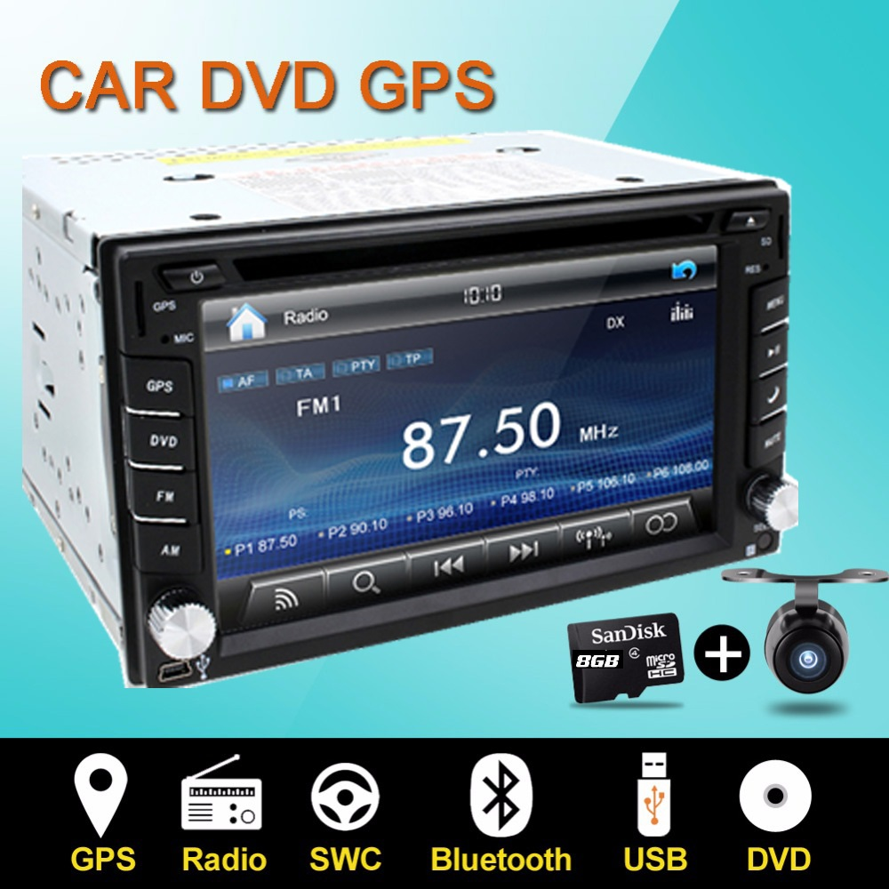 Steering wheel Auto 2din car dvd player Radio GPS PC Video Camera Monitor For VW universal RDS Blutooth digital tv (option) Cam(China (Mainland))