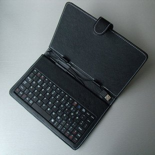 """Free Shipping Leather Keyboard Case Cover For 7""""inch Apad Epad iRobot(China (Mainland))"""