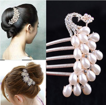 Fashion Crystal Hair Jewelry Insert Comb Hair Hairpins Women Hair Accessories(China (Mainland))