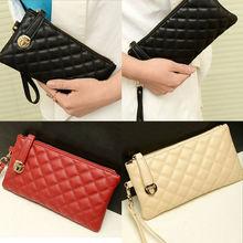 OCEA Fashion Women Zip PU Leather Clutch Case Lady Long Handbag Wallet Purse