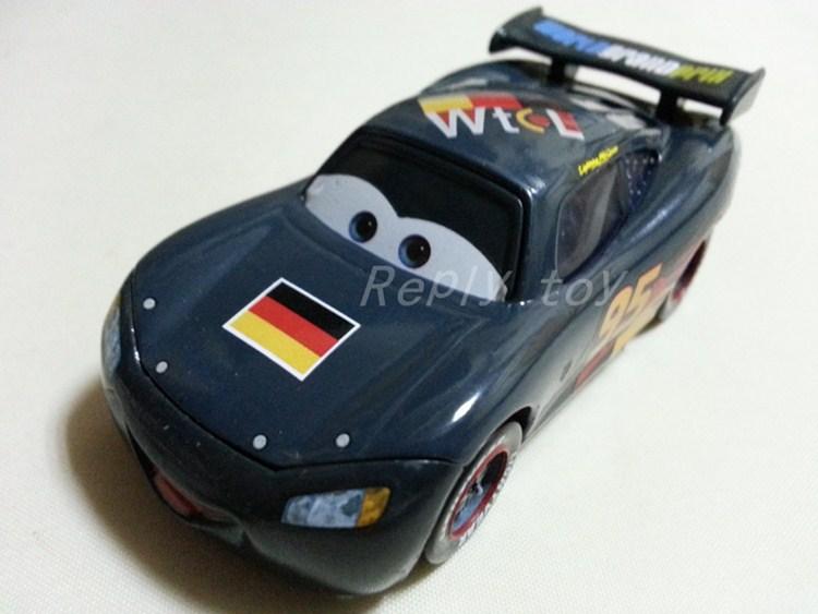 Pixar Cars No.95 Lightning MaiKun Germany Pattern Metal Diecast Toy Car 1:55 Loose Brand New In Stock & Free Shipping(China (Mainland))