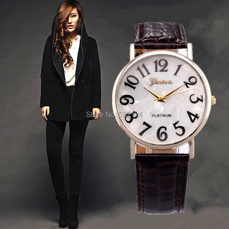 2015 Best selling Women Watches Fashion Quartz Casual Leather Watch Colorful Female Girls Ladies Round Dial Wristwatch Wholesale(China (Mainland))