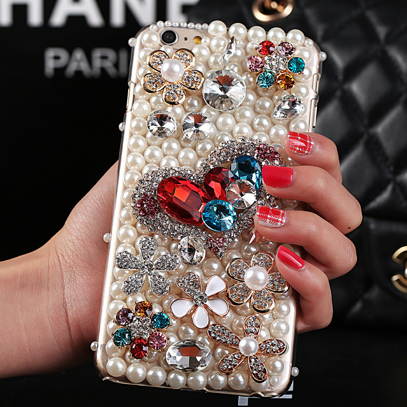 Diamond bling crystal hard case for iphone 6 4 7 font b iphone6 b font plus