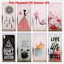 Для Huawei Y6 честь 4A чехол, Кристалл алмаза 3D твердый переплет пластиковый чехол для Huawei чести 4A сотовый телефон чехол