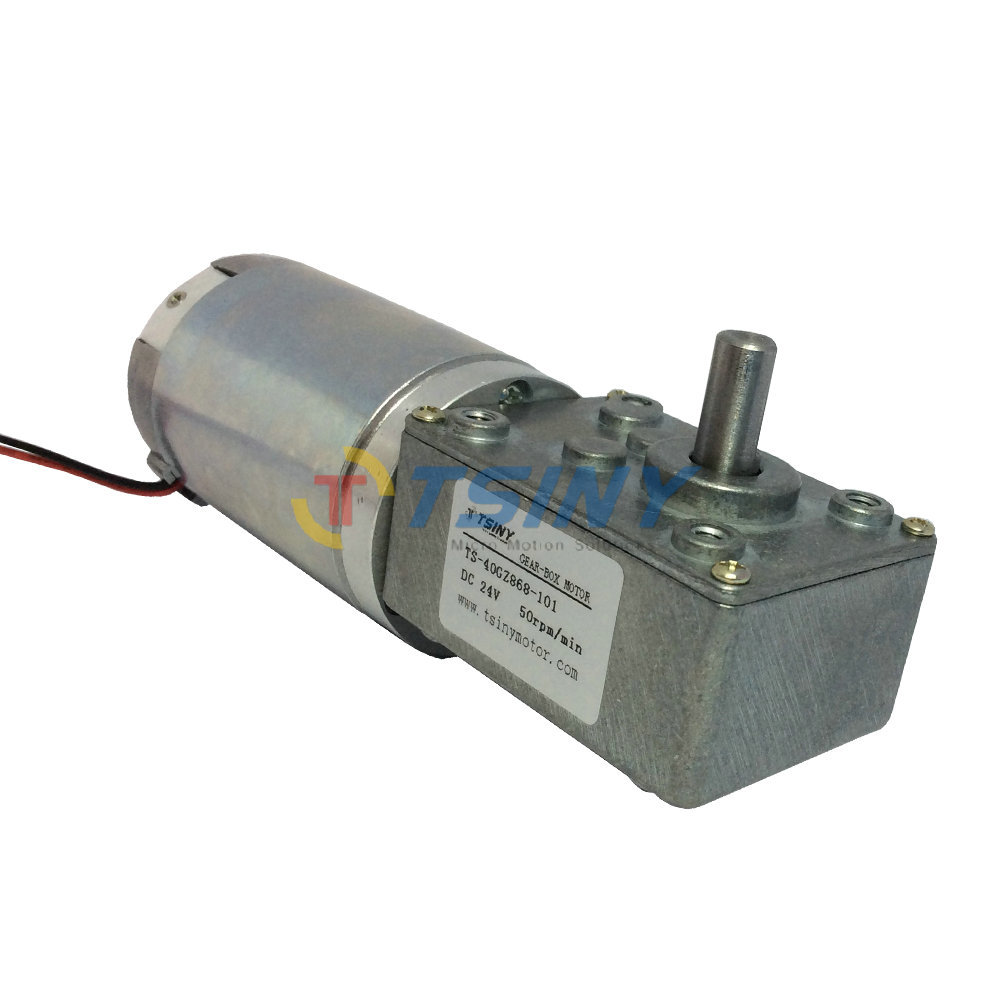 Dc 24v high torque dc electrical worm gear reducer motor for High torque electric motor