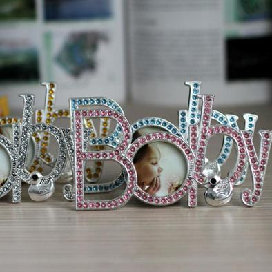 2 inch Baby Photo Frame Zinc Alloy Wedding Desk Display Children's Day 150g(China (Mainland))